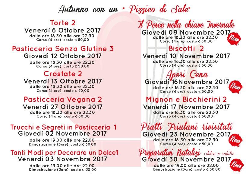 Corsi 2017 | Pasticceria Mosaico
