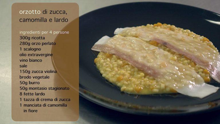 Orzotto di Zucca Camomilla Lardo | Pasticceria Mosaico