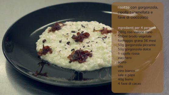 Risotto Gorgonzola Cipolla e Cioccolato | Pizzico di Sale